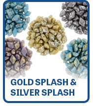 Gold Splash & Silver Splash GemDuo Beads