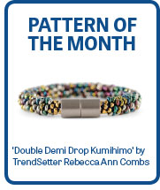 'Double Demi Drop Kumihimo' Bracelet by TrendSetter Rebecca Ann Combs