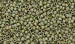"Matubo Seed Bead 11/0 Tube 2.5"" : Ultra Luster - Opaque Green"
