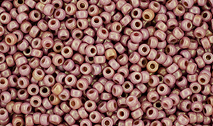 "Matubo Seed Bead 11/0 Tube 2.5"" : Luster - Opaque Dk Pink"