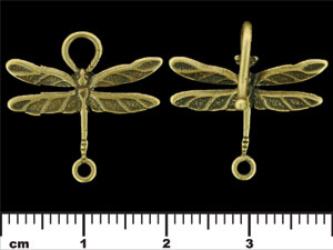 Dragonfly Hook and Clasp : Antique Brass