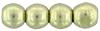 Round Beads 3mm (loose)  : ColorTrends: Saturated Metallic Limelight