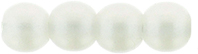 Round Beads 3mm (loose) : Powdery - Pastel White