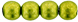 Round Beads 6mm (loose) : ColorTrends: Saturated Metallic Lime Punch