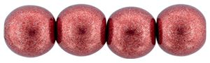Round Beads 6mm (loose)  : ColorTrends: Saturated Metallic Valiant Poppy