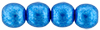 Round Beads 6mm (loose)  : ColorTrends: Saturated Metallic Nebulas Blue