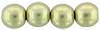 Round Beads 6mm (loose)  : ColorTrends: Saturated Metallic Limelight