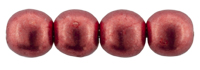 Round Beads 6mm (loose) : ColorTrends: Sueded Gold Samba Red