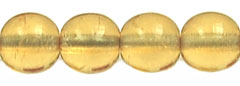 Round Beads 6mm (loose) : Med Topaz