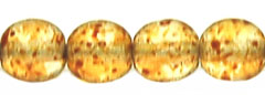 Round Beads 6mm (loose) : Crystal - Picasso
