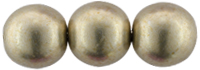 Round Beads 8mm (loose) : ColorTrends: Sueded Gold Cloud Dream