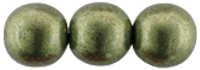 Round Beads 8mm (loose) : ColorTrends: Sueded Gold Fern