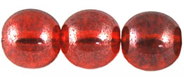 Round Beads 10mm (loose) : Luster Blue - Lt Siam Ruby