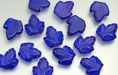 Large Vertical Leaves 15/12mm (loose) : Coated - Cobalt