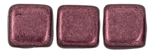 CzechMates Tile Bead 6mm (loose) : ColorTrends: Saturated Metallic Red Pear