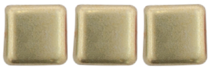 CzechMates Tile Bead 6mm (loose) : ColorTrends: Sueded Gold Cloud Dream