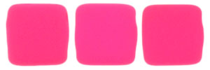 CzechMates Tile Bead 6mm (loose) : Neon - Pink