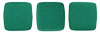 CzechMates Tile Bead 6mm (loose) : Neon - Dk Emerald