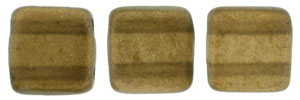 CzechMates Tile Bead 6mm (loose) : Halo - Burnt Umber
