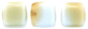 CzechMates Tile Bead 6mm (loose) : Silk Blue/Taupe