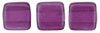 CzechMates Tile Bead 6mm (loose) : Pearl Lights - Orchid
