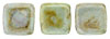 CzechMates Tile Bead 6mm (loose) : Ultra Luster - Opaque Green