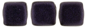 CzechMates Tile Bead 6mm (loose) : Metallic Suede - Dk Purple