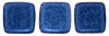 CzechMates Tile Bead 6mm (loose) : Metallic Suede - Blue