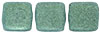 CzechMates Tile Bead 6mm (loose) : Metallic Suede - Lt Green