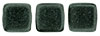 CzechMates Tile Bead 6mm (loose) : Metallic Suede - Dk Forest