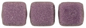 CzechMates Tile Bead 6mm (loose) : Metallic Suede - Pink