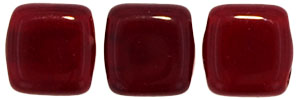 CzechMates Tile Bead 6mm (loose) : Oxblood