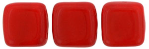 CzechMates Tile Bead 6mm (loose) : Opaque Red