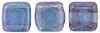 CzechMates Tile Bead 6mm (loose) : Luster - Transparent Amethyst