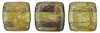 CzechMates Tile Bead 6mm (loose) : Luster - Transparent Green