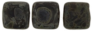 CzechMates Tile Bead 6mm (loose) : Matte - Jet - Picasso