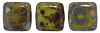 CzechMates Tile Bead 6mm (loose) : Opaque Olive - Picasso