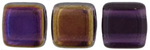 CzechMates Tile Bead 6mm (loose) : Twilight - Tanzanite
