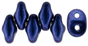 SuperDuo 5 x 2mm (loose) : ColorTrends: Saturated Metallic Evening Blue