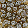 SuperDuo 2/5mm (loose) : Luster - Smoky Topaz