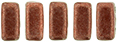 CzechMates Bricks 3/6mm (loose) : ColorTrends: Saturated Metallic Grenadine
