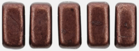 CzechMates Bricks 6 x 3mm (loose) : ColorTrends: Saturated Metallic Chicory Coffee