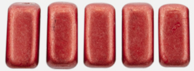 CzechMates Bricks 6 x 3mm (loose) : ColorTrends: Saturated Metallic Cranberry