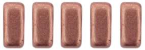 CzechMates Bricks 6 x 3mm (loose) : ColorTrends: Sueded Gold Lantana