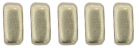 CzechMates Bricks 6 x 3mm (loose) : ColorTrends: Sueded Gold Cloud Dream