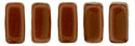 CzechMates Bricks 3/6mm (loose) : Opaque Umber