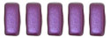 CzechMates Bricks 3/6mm (loose) : Pearl Coat - Purple Velvet