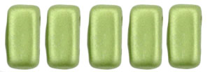 CzechMates Bricks 3/6mm (loose) : Pearl Coat - Olive