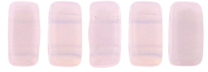 CzechMates Bricks 3/6mm (loose) : Opal Lt Pink