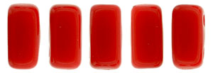 CzechMates Bricks 3/6mm (loose) : Opaque Red